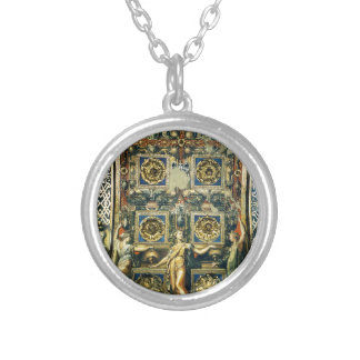 Wise Virgins Allegorical Figures And Plants Round Pendant Necklace