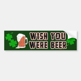 Wish Beer Irish Bumper Sticker