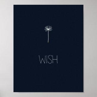 Wish Dandelion Poster