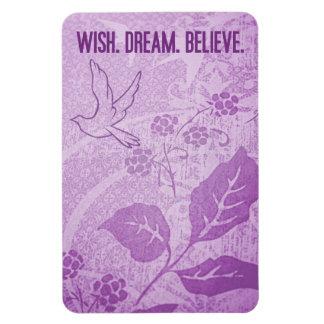Wish. Dream. Believe. Rectangular Photo Magnet