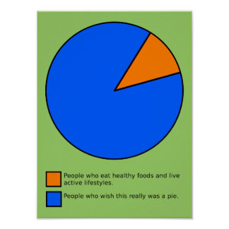 Wish It Was Pie Chart Funny Poster Sign