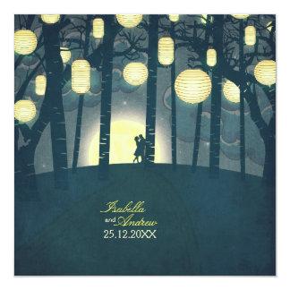 Wish Lanterns Dream Forest 13 Cm X 13 Cm Square Invitation Card