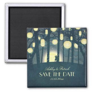 Wish Lanterns Dream Forest Square Magnet