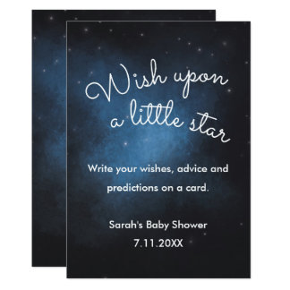 Wish on a star Baby Shower Sign Card