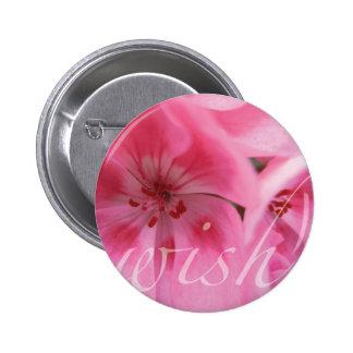 Wish Pink Geranium Flower Brooch Pin