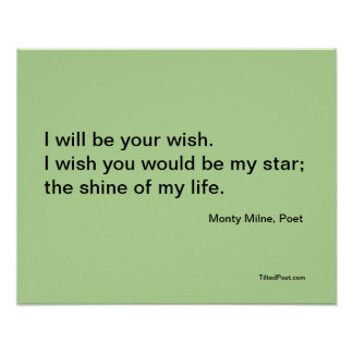 Wish - Poetry Poster