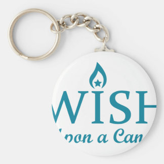 Wish Upon a Candle Basic Round Button Key Ring