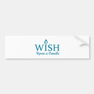 Wish Upon a Candle Bumper Sticker