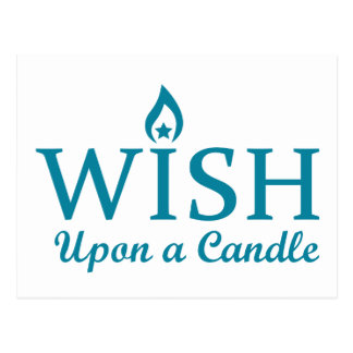 Wish Upon a Candle Postcard