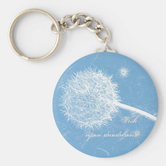 Wish upon a dandelion basic round button key ring