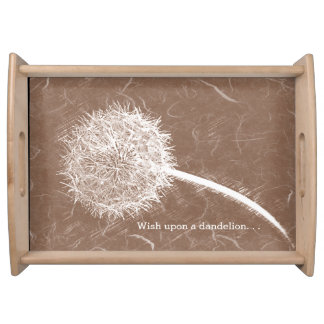 Wish Upon a Dandelion Brown Food Tray