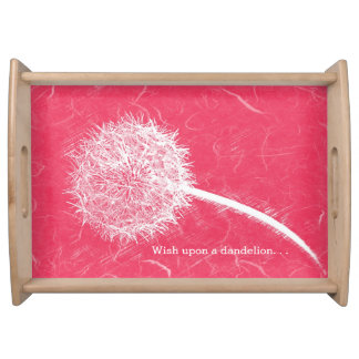 Wish Upon a Dandelion Red Service Tray