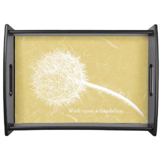 Wish Upon a Dandelion Yellow Serving Platter