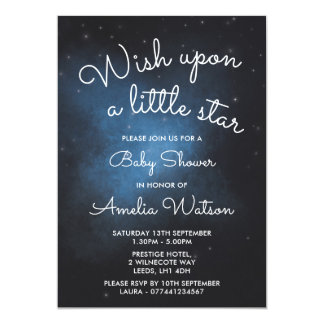 Wish upon a little star baby shower invitation