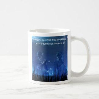 wish upon a star basic white mug