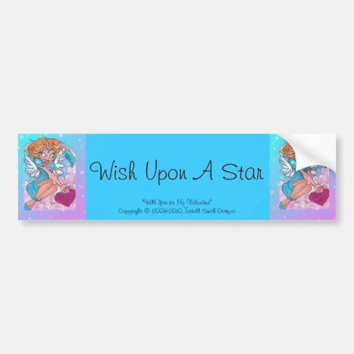 """Wish Upon A Star"" Bumper Sticker"
