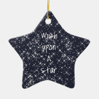 Wish Upon A Star Ceramic Star Decoration