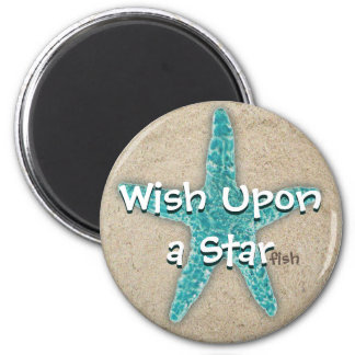 Wish Upon a Star Fish 6 Cm Round Magnet