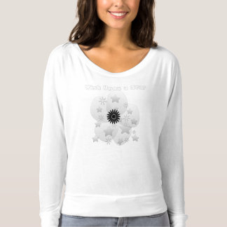 Wish Upon a Star Glossy Silver Flower T-Shirt