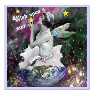 wish upon a star invitation notecard