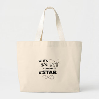 wish upon a star large tote bag