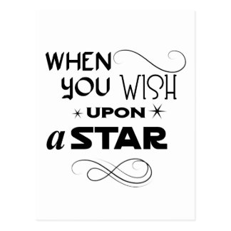 wish upon a star postcard