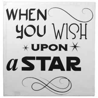 wish upon a star printed napkin