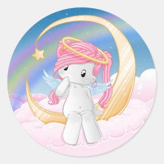 Wish upon a star round sticker