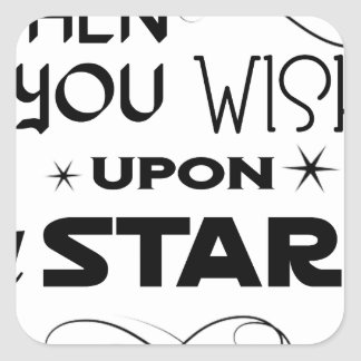 wish upon a star square sticker