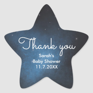 Wish upon a star thank you stickers
