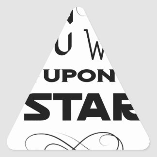 wish upon a star triangle sticker
