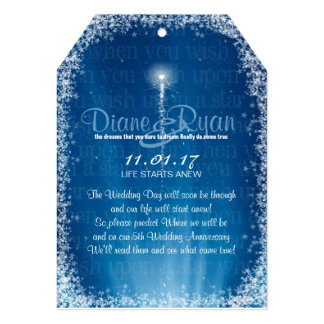 Wish Upon a Star Wedding Prediction Tags Card