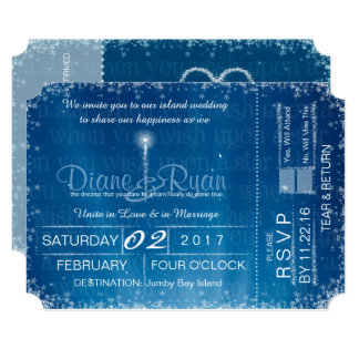 Wish Upon a Star wedding ticket invitation