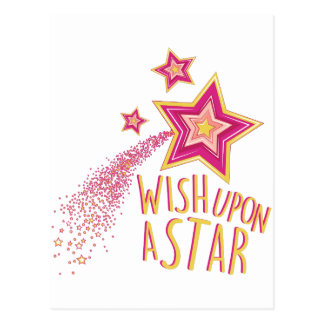 Wish Upon Star Postcard