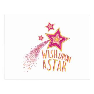 Wish Upon Star Postcard