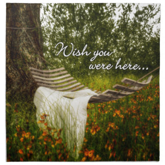 Wish You Were Here 140629 wording Cloth Napkins