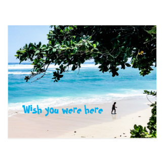 Wish you were here at the beach Postcard