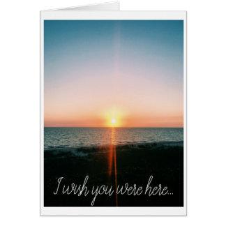 Wish You Were Here - Beach Photo Card