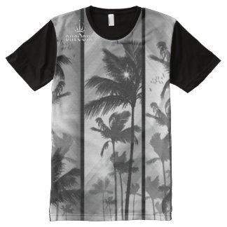 Wish You Were Here Palm Trees All-Over Print T-Shirt