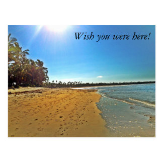 Wish you were here! sandy beach postcard