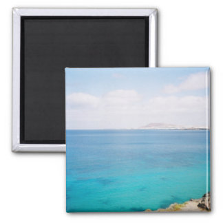 Wish you were here! square magnet