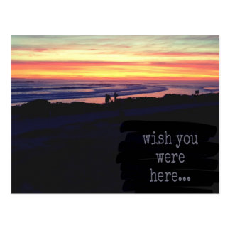 Wish you were here, sunset postcard