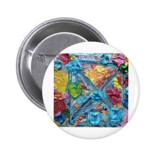 wisha washa original art from NET GIG series adela Pinback Button