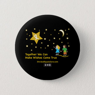 Wishes-Childhood Cancer Awareness 6 Cm Round Badge