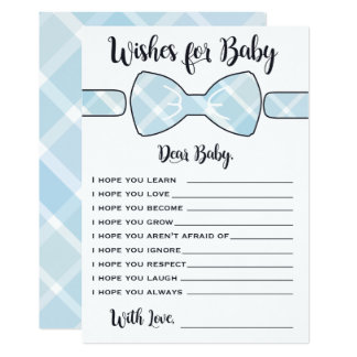 Wishes For Baby Blue Boy Bowtie Game Card