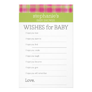 Wishes for Baby - Shower Games Customised Stationery