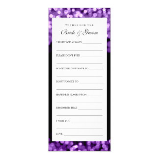 Wishes For Bride And Groom Purple Lights 10 Cm X 24 Cm Invitation Card