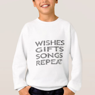 Wishes gifts songs repeat - strips - black sweatshirt