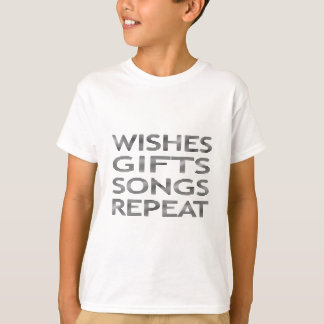 Wishes gifts songs repeat - strips - black T-Shirt
