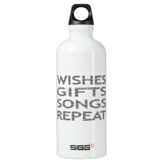 Wishes gifts songs repeat - strips - black water bottle